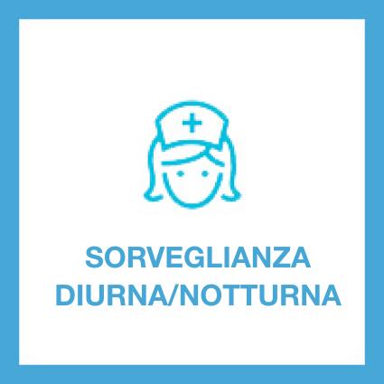 La struttura fornisce assistenza sanitaria diurna e notturna da parte di personale inquadrato nella qualifica di Operatore Socio Sanitario. È inoltre presente un infermiere tutte le mattine dal lunedì al sabato.